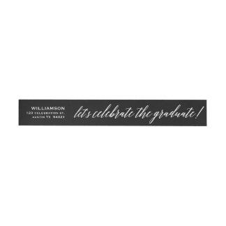 Elegant Cursive Celebrate the Graduate Seal Wraparound Address Label