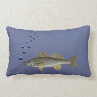 Elegant cushion with fish