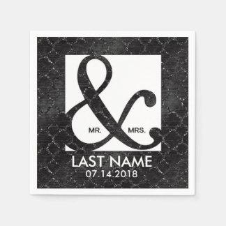 Elegant custom ampersand napkins paper napkin