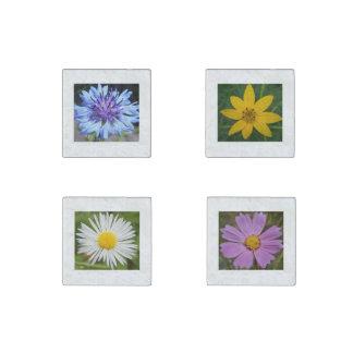 Elegant Custom Floral Stone Magnets