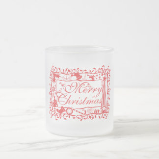 Elegant Custom Merry Christmas Floral Pattern Mugs