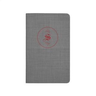 Elegant Custom Monogram Vintage Pocket Journals