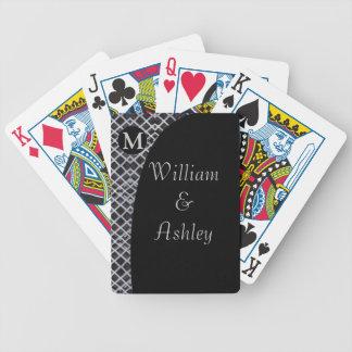 Elegant Custom Monogrammed Playing Cards