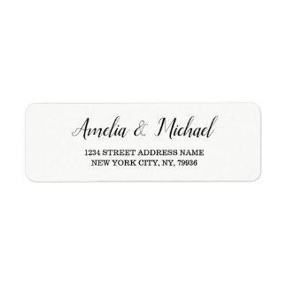 Elegant Custom Wedding Return Address Label