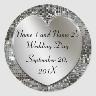 Elegant Custom Wedding Stickers