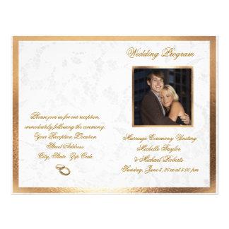 Elegant Customizable Photo Wedding Program Flyer