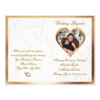 Elegant Customizable Photo Wedding Program Flyers