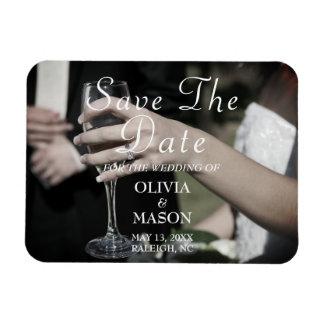 Elegant Customizable Save The Date Magnet