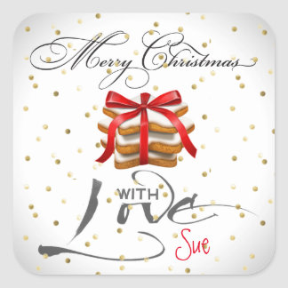Elegant Customized Christmas Cookie Gift Stickers