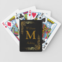 Elegant Customized Monogrammed Playing Cards