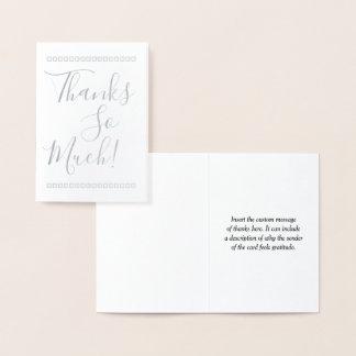 "Elegant & Customized ""Thanks So Much!"" Card"