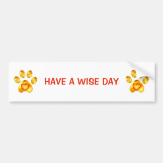 Elegant cute golden paws bumper sticker