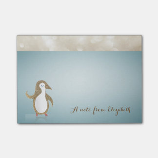 Elegant Cute Lovely  Stylish ,Happy Penguine Post-it® Notes