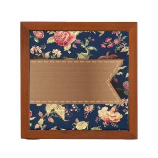 Elegant Cute Vintage Floral Pattern Desk Organizer
