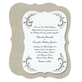 Elegant Cutout Look Wedding Invitation