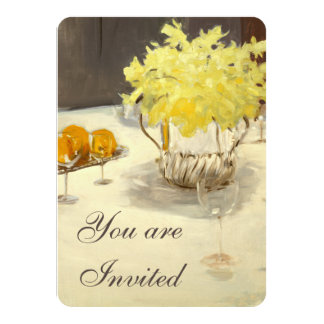 Elegant Daffodils Rehearsal Dinner Invitations