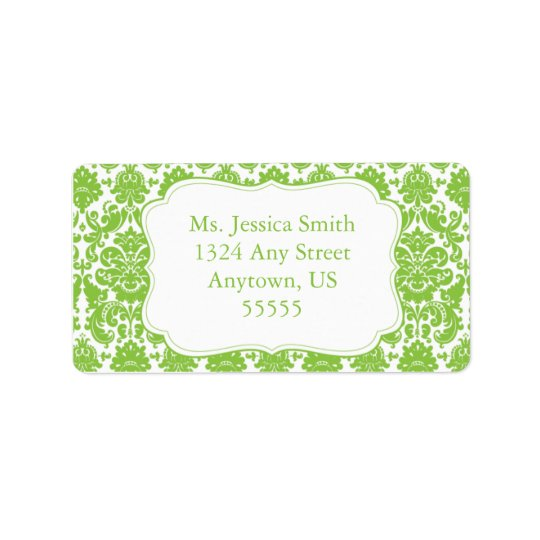 Elegant Damask Address Label