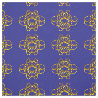 Elegant Damask Fabric Navy Blue