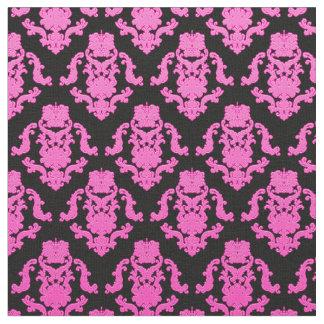 Elegant Damask Fabric Pink