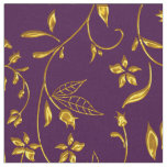 Elegant Damask Fabric Purple