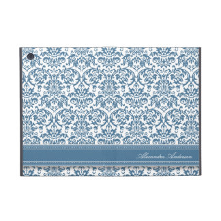 Elegant Damask iPad Mini Case (blue)