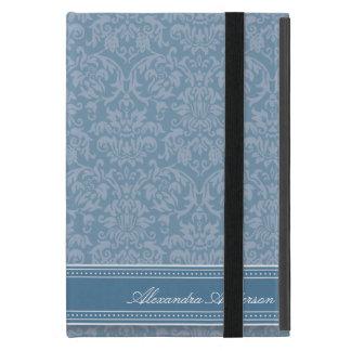 Elegant Damask iPad Mini Case (blue)