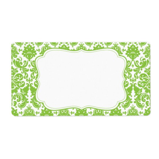 Elegant Damask Label
