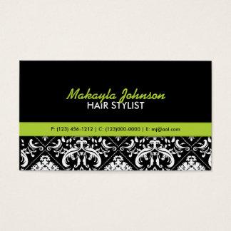 Elegant Damask Modern & Stylish Business Card