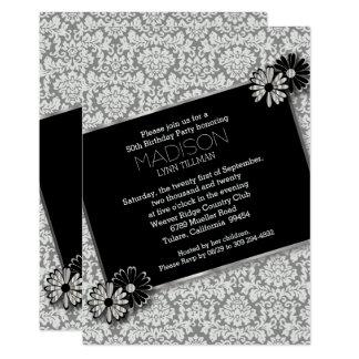 Elegant Damask Party Template Invitation Card