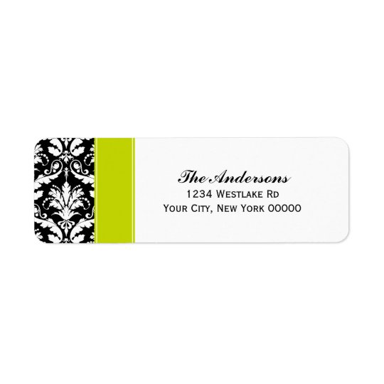 Elegant Damask Pattern Address Labels
