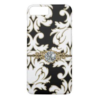 Elegant Damask Pattern Bling Design iPhone 8 Plus/7 Plus Case