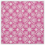 Elegant Damask Pattern | Pink And White Fabric