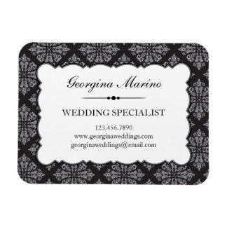 Elegant Damask Professional Business Rectangular Photo Magnet