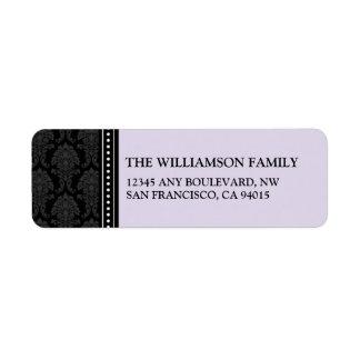 Elegant Damask Return Address Labels (lilac)