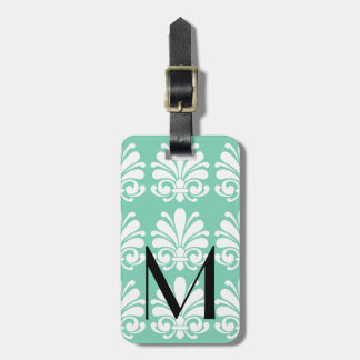Elegant Damask Shell Flourish Personalized Luggage Tag
