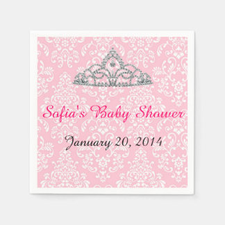 Elegant Damask Tiara Party Napkin Paper Napkins