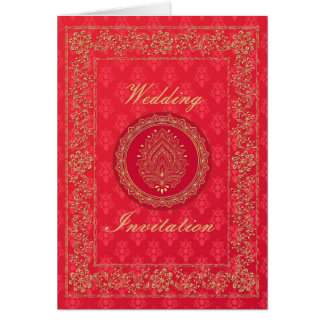Elegant Damask Wedding - Invite / Greeting Card