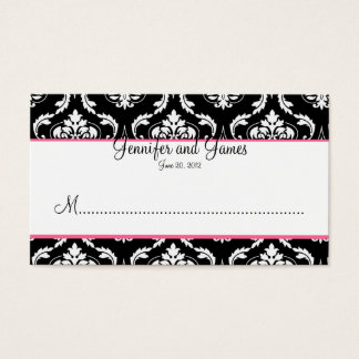 Elegant Damask Wedding Reception Place Card
