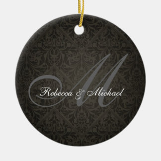 Elegant Damasked Monogram Ornament