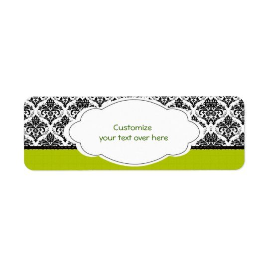 Elegant Damasks Label