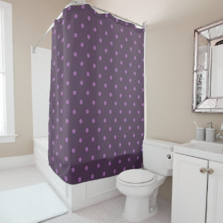 elegant dark and light purple polka dots