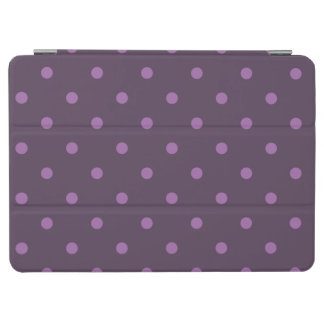 elegant dark and light purple polka dots iPad air cover