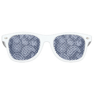 Elegant dark blue paisley pattern party sunglasses