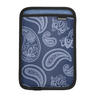 Elegant dark blue paisley pattern sleeve for iPad mini
