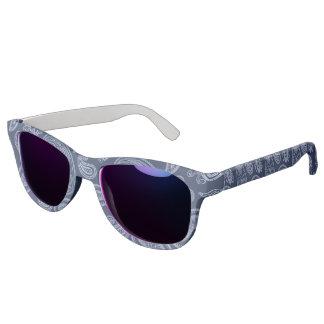Elegant dark blue paisley pattern sunglasses