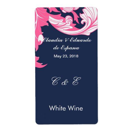 Elegant Dark & Classy Florals - Dark Blue, Pink