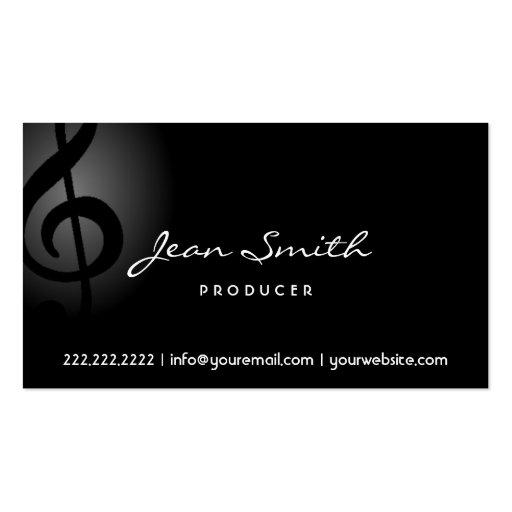 Elegant Dark Clef Producer Business Card