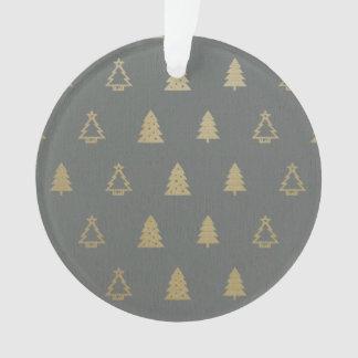 Elegant Dark Gold Christmas Ornament