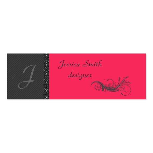 Elegant dark gray discrete stripes stylish lase business cards