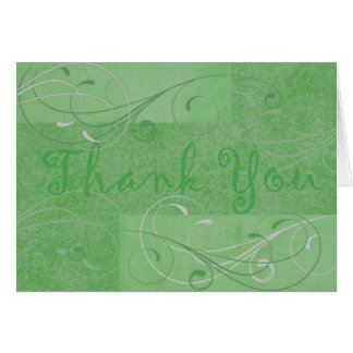 Elegant Dark Green Thank You Notecard Note Card
